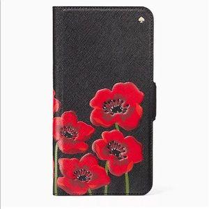 Kate Spade Large poppies Folio case